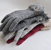 "Аксессуары ручной работы. Ярмарка Мастеров - ручная работа валяные перчатки ""Меланж"". Handmade."