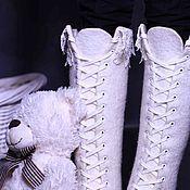 """Обувь ручной работы. Ярмарка Мастеров - ручная работа Валяные ботинки """"Christmas"""". Handmade."""