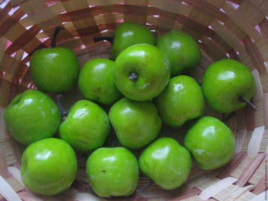 Материалы для флористики ручной работы. Ярмарка Мастеров - ручная работа. Купить Яблочки зеленые искусственные. Handmade. Зеленый, яблоки