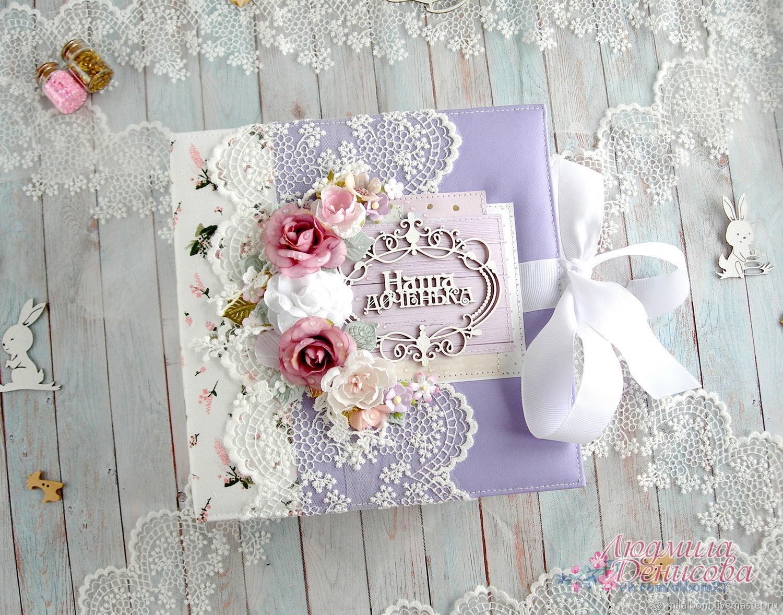 Фотоальбом для новорожденной девочки с зайками, Фотоальбомы, Киров,  Фото №1
