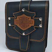 Классическая сумка ручной работы. Ярмарка Мастеров - ручная работа Подсумок Harley Davidson. Handmade.