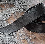 Пояса ручной работы. Ярмарка Мастеров - ручная работа Кожаный пояс для верхней одежды - черный. Handmade.