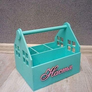 Для дома и интерьера ручной работы. Ярмарка Мастеров - ручная работа Органайзер - ящик для хранения письменных принадлежностей. Handmade.