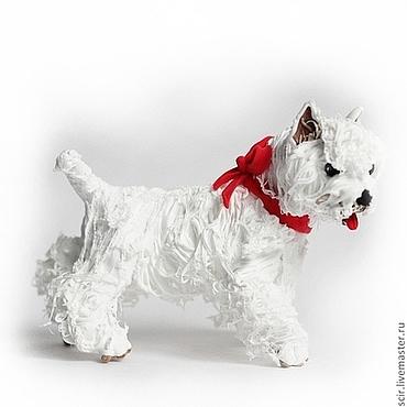 """Для дома и интерьера ручной работы. Ярмарка Мастеров - ручная работа Фигурка """"Вестхайленд терьер"""" (собака игрушка). Handmade."""