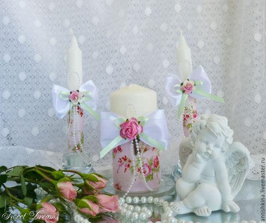 Свечи для семейного очага Шебби шик