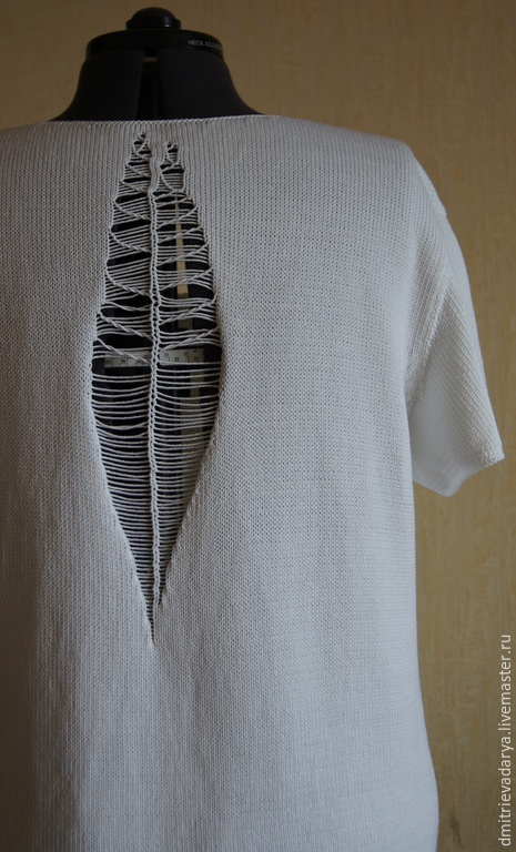 """Для мужчин, ручной работы. Ярмарка Мастеров - ручная работа. Купить Мужская футболка """"Современность"""". Handmade. Белый, хлопок"""