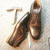 Обувь ручной работы. Ярмарка Мастеров - ручная работа полуботинки. Handmade.