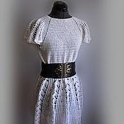Одежда ручной работы. Ярмарка Мастеров - ручная работа Платье белое для девушки. Handmade.
