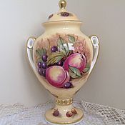 Винтаж ручной работы. Ярмарка Мастеров - ручная работа Aynsley. Orchard Gold. Интерьерная ваза. 22,5 см.. Handmade.