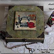 """Для дома и интерьера ручной работы. Ярмарка Мастеров - ручная работа Коробка """"Shadowbox Modiste"""". Handmade."""