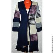 Одежда handmade. Livemaster - original item Cardigan boho knitted patchwork Goose leg. Handmade.