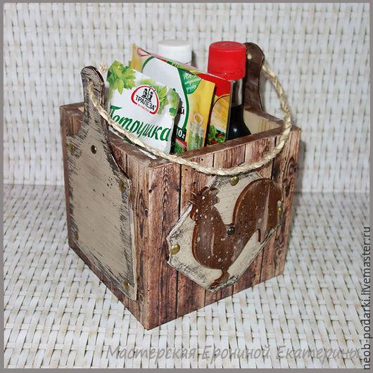 """Кухня ручной работы. Ярмарка Мастеров - ручная работа. Купить Короб для специй """"Домашний"""".. Handmade. Короб для кухни, кухонная утварь"""