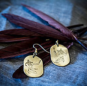 Украшения handmade. Livemaster - original item Earrings with Anubis. Handmade.