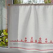 Для дома и интерьера handmade. Livemaster - original item Curtain Keeper strojeva hand embroidery on linen. Handmade.