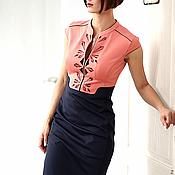 Одежда ручной работы. Ярмарка Мастеров - ручная работа АКЦИЯ!!! СКИДКА НА ГОТОВЫЕ ИЗДЕЛИЯ 30%!!! Платье VITA коралл. Handmade.