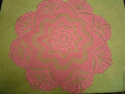 """Текстиль, ковры ручной работы. Ярмарка Мастеров - ручная работа. Купить Салфетка """"Звезда"""". Handmade. Розовый, ручная работа, подарок"""