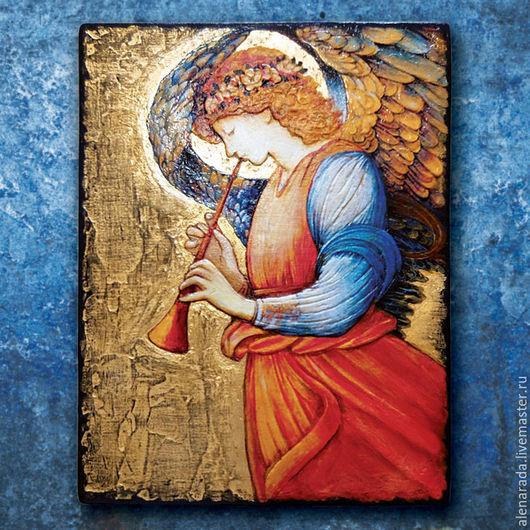 Репродукции ручной работы. Ярмарка Мастеров - ручная работа. Купить Панно Ангел летящий. Handmade. Ангел, картина с ангелом