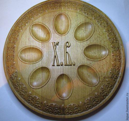 Тарелки ручной работы. Ярмарка Мастеров - ручная работа. Купить Пасхальная тарелка.. Handmade. Подарок на Пасху, пасхальные подарки