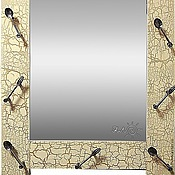 Для дома и интерьера ручной работы. Ярмарка Мастеров - ручная работа Зеркало настенное для кухни бежевое Ложки. Handmade.