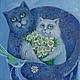 Животные ручной работы. Ярмарка Мастеров - ручная работа. Купить Отелло и Дездемона. Happy End. Handmade. Кошка, кот, букет