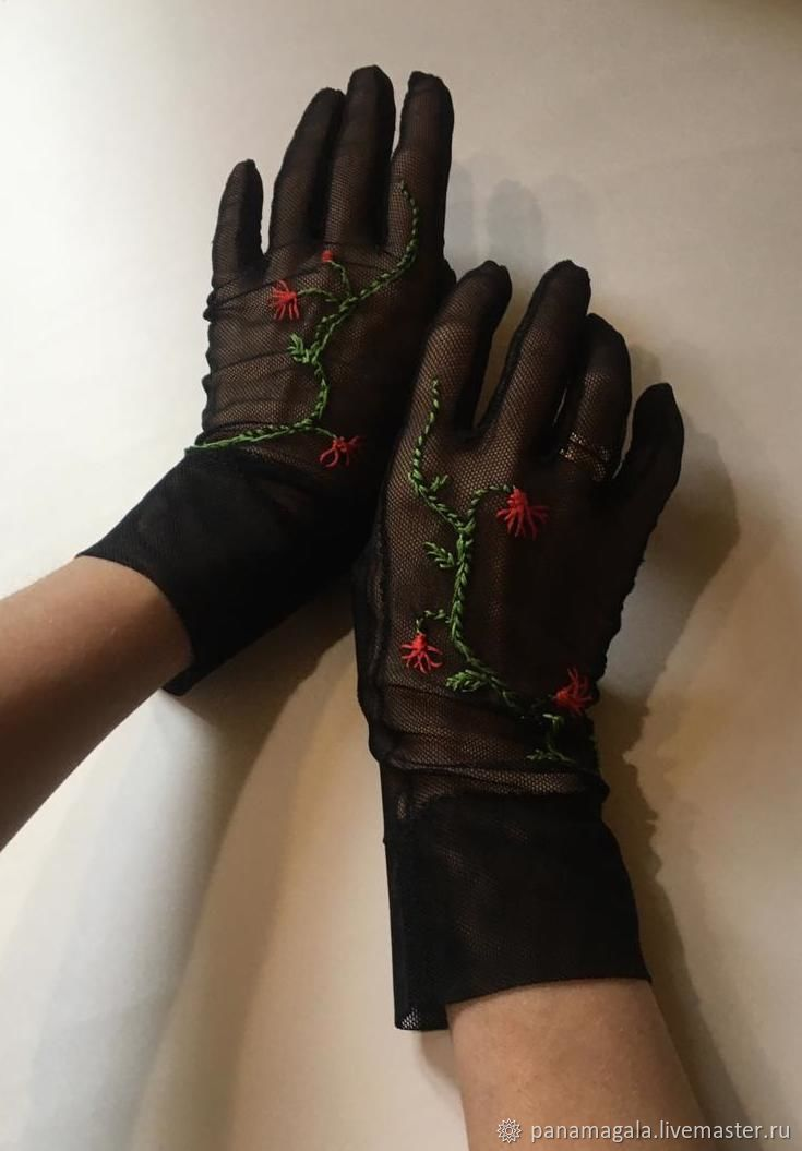 """Перчатки в стиле ретро """"Romance"""", Перчатки, Москва,  Фото №1"""