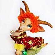 Куклы и игрушки ручной работы. Ярмарка Мастеров - ручная работа Козочка Козетта. Символ 2015 года игрушка интерьерная коза. Handmade.