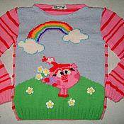 """Вязаный пуловер """"Смешарики"""""""