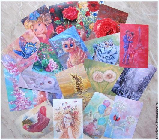 Индивидуальный набор авторских открыток Катерины Аксеновой.