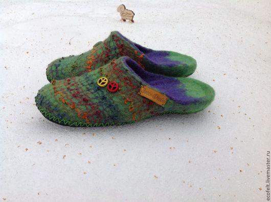 Обувь ручной работы. Ярмарка Мастеров - ручная работа. Купить Тапочки  - Миссони. Handmade. Войлок, подарок на любой случай