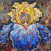 """Картины и панно ручной работы. Ярмарка Мастеров - ручная работа картина """"Ирис -1"""" (диптих). Handmade."""