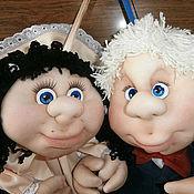 """Куклы и игрушки ручной работы. Ярмарка Мастеров - ручная работа Куколки на удачу """"Молодожены"""". Handmade."""