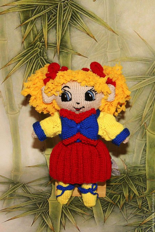 Человечки ручной работы. Ярмарка Мастеров - ручная работа. Купить Вязаная игрушка. Кукла Алёнушка. Handmade. Желтый, игрушка для детей