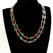 Винтаж handmade. Livemaster - original item Adorable LONG necklace, bezel. Handmade.