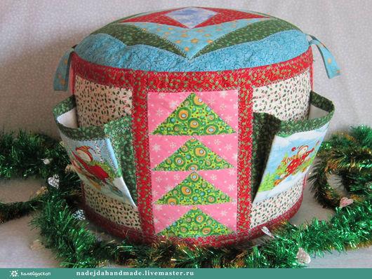 Детская ручной работы. Ярмарка Мастеров - ручная работа. Купить Пуфик в детскую Новогодний В наличии. Handmade. Комбинированный