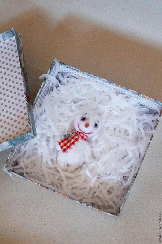 """Мишки Тедди ручной работы. Ярмарка Мастеров - ручная работа. Купить """"Cute friends""""  Снеговик. Handmade. Комбинированный, снеговики"""