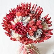 Цветы и флористика ручной работы. Ярмарка Мастеров - ручная работа букет из сухоцветов - Розочка. Handmade.