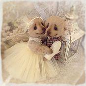 Куклы и игрушки ручной работы. Ярмарка Мастеров - ручная работа Свадебные мишки тедди.. Handmade.