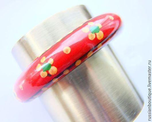 """Винтажные украшения. Ярмарка Мастеров - ручная работа. Купить Бохо-браслет """"Лето красное"""" винтаж дерево этно. Handmade."""