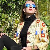 """Одежда ручной работы. Ярмарка Мастеров - ручная работа Жакет лоскутный """"Климт. Золотая Адель"""". Handmade."""