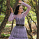 Платья ручной работы. Афродита.. из пены морской... Лилита Матросова. Ярмарка Мастеров. Вязаное платье