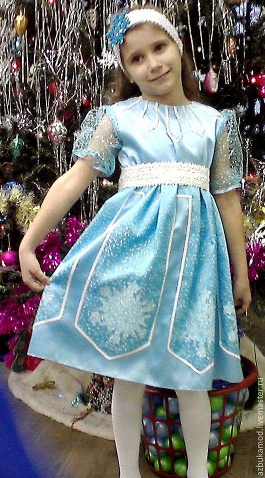 Карнавальные костюмы ручной работы. Ярмарка Мастеров - ручная работа. Купить Снежинка. Handmade. Голубой, орнамент, креп-сатин