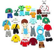 Куклы и игрушки ручной работы. Ярмарка Мастеров - ручная работа Одежда из фетра для куклы мальчика на 4 времени года. Handmade.
