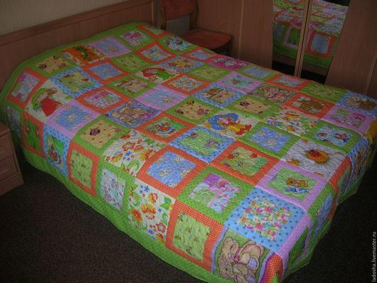 Текстиль, ковры ручной работы. Ярмарка Мастеров - ручная работа. Купить лоскутное покрывало Детское. Handmade. Комбинированный, лоскутное одеяло