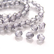 Материалы для творчества handmade. Livemaster - original item Beads faceted bicone Czech glass 4 mm. Handmade.