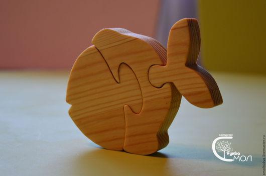 Развивающие игрушки ручной работы. Ярмарка Мастеров - ручная работа. Купить Рыбка-пазл. Развивающая деревянная игрушка.. Handmade.