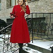 Пальто ручной работы. Ярмарка Мастеров - ручная работа Пальто двубортное красное. Handmade.