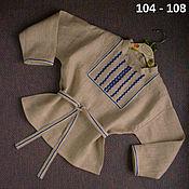 Одежда handmade. Livemaster - original item Russian folk shirt of unbleached linen. Handmade.