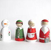 Куклы и игрушки ручной работы. Ярмарка Мастеров - ручная работа новогодние  фигурки. Handmade.