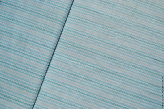 """Шитье ручной работы. Ярмарка Мастеров - ручная работа. Купить Хлопок для шитья, рукоделия """"Голубые волны"""".Корея. Handmade. Голубой"""