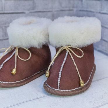 Обувь ручной работы. Ярмарка Мастеров - ручная работа Пинетки на завязочках. Handmade.